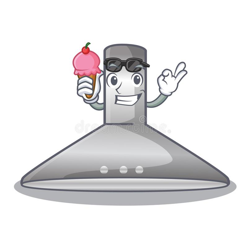 With ice cream kichen hood in the mascot shape. Vector illustration stock illustration