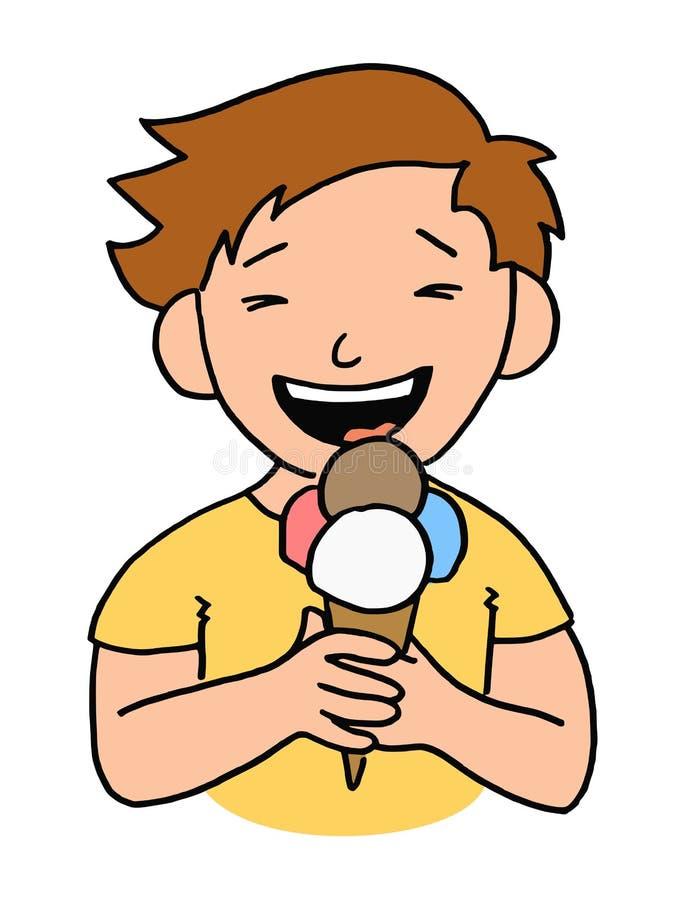 Ice cream kid vector illustration