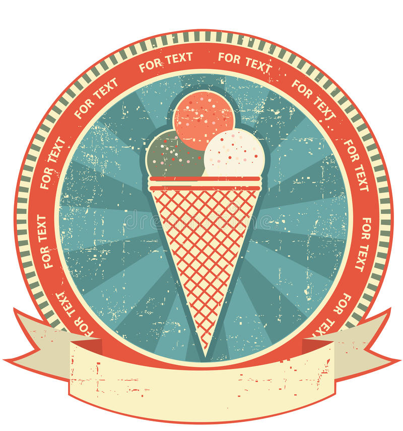 Download Ice Cream Label Set On Old Paper Texture.Grunge Royalty Free Stock Photography - Image: 23227017