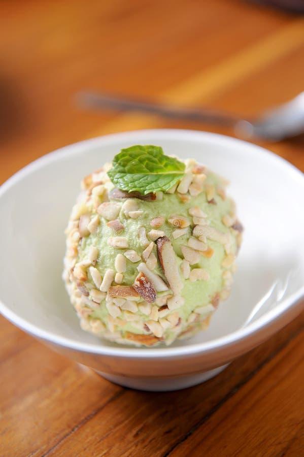Ice cream lemon royalty free stock photography