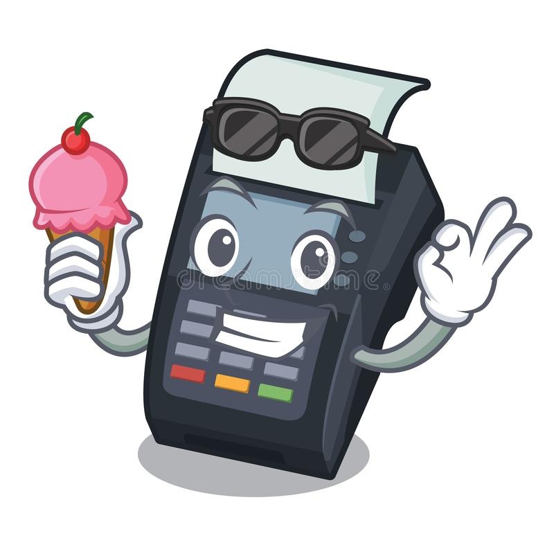 With ice cream machine EDC isolated in the mascot royalty free illustration