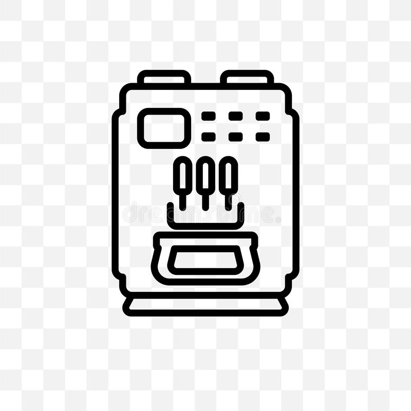 Ice cream maker vector linear icon isolated on transparent background, ice cream maker transparency concept can be used for web an. D mobile royalty free illustration