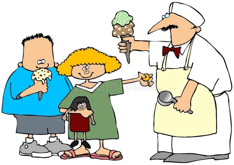 Download The Ice Cream Man Royalty Free Stock Image - Image: 10239906