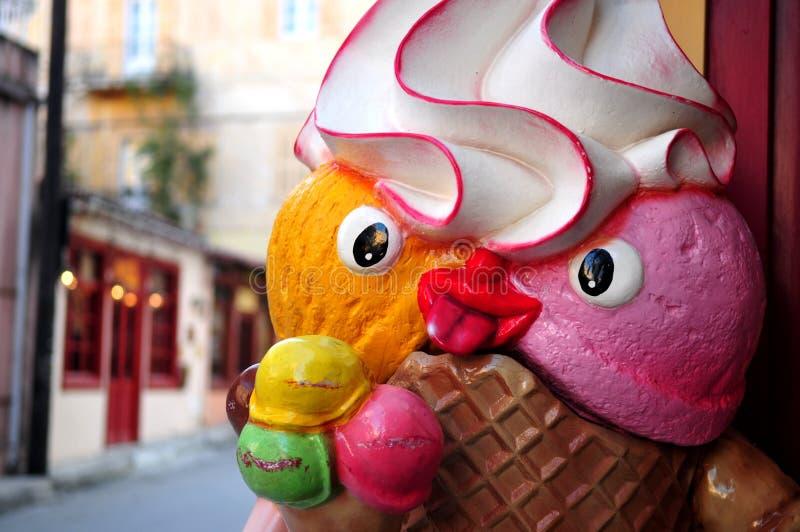 Ice cream man royalty free stock images