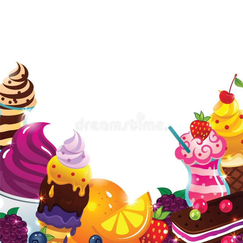 Ice Cream Menu Royalty Free Stock Photos