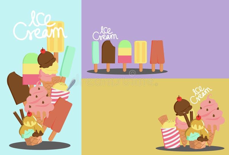 Ice cream note stock photo