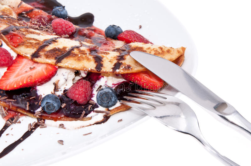 Download Ice Cream In Pan Cake With Fruits Stock Photo - Image: 25911714