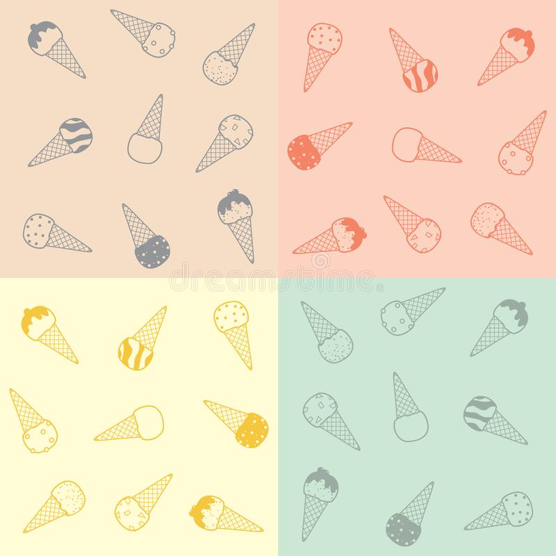 Download Ice-cream pattern stock vector. Illustration of decor - 20302856