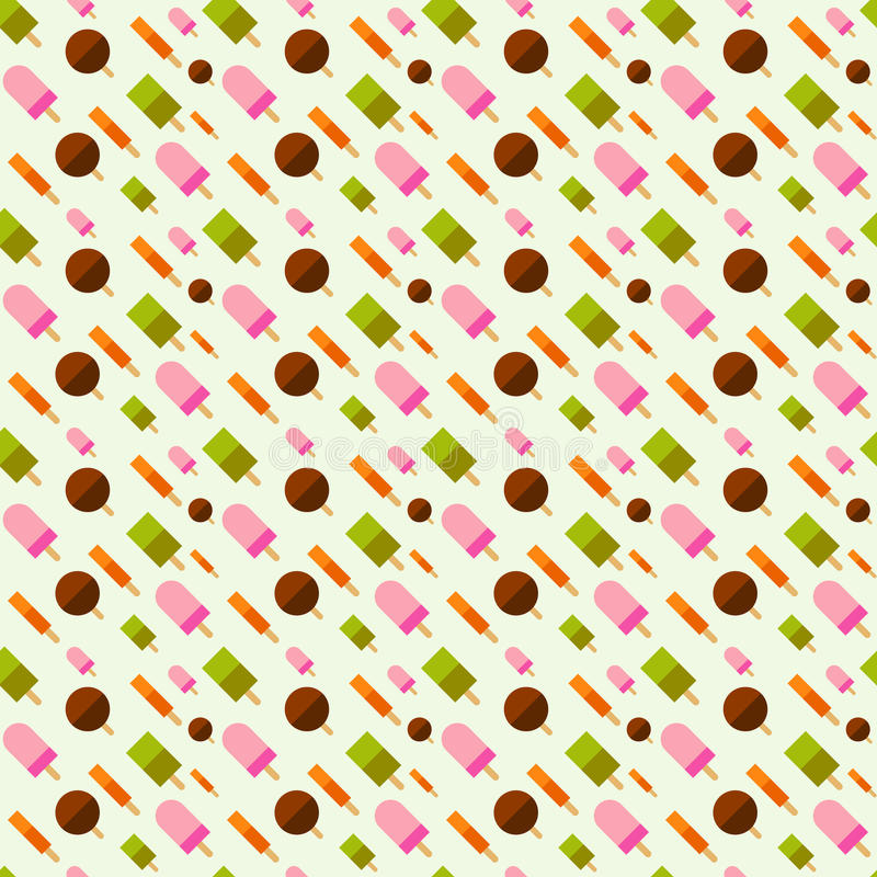 The Ice cream pattern background illustration. royalty free stock images