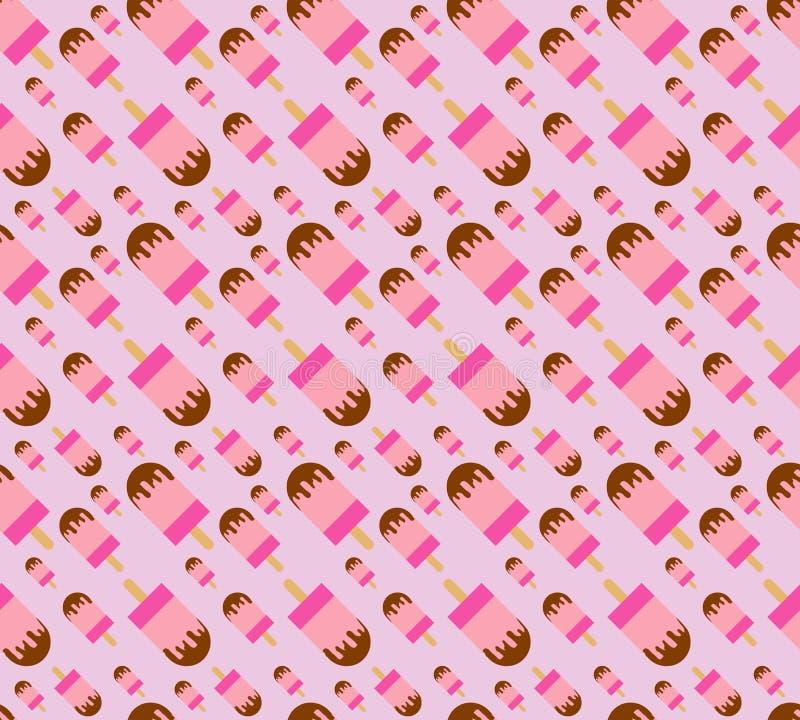 The Ice cream pattern background vector illustration. stock photo