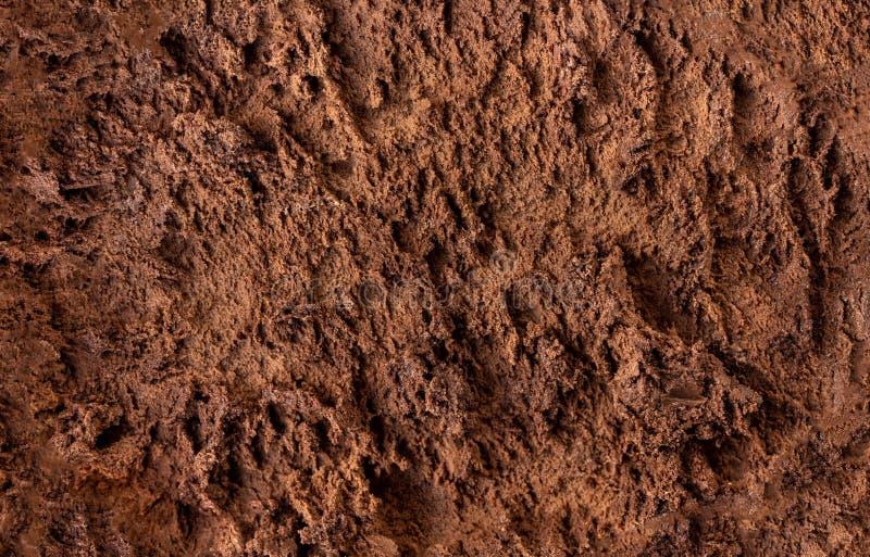 Ice-cream Pattern.  Delicious Chocolate  ice cream as background stock photo