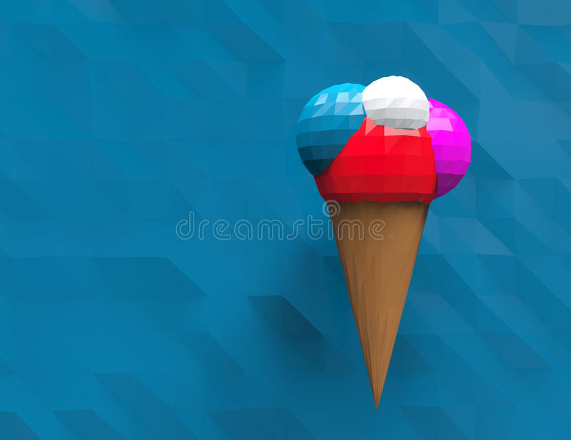 Ice cream polygonal design