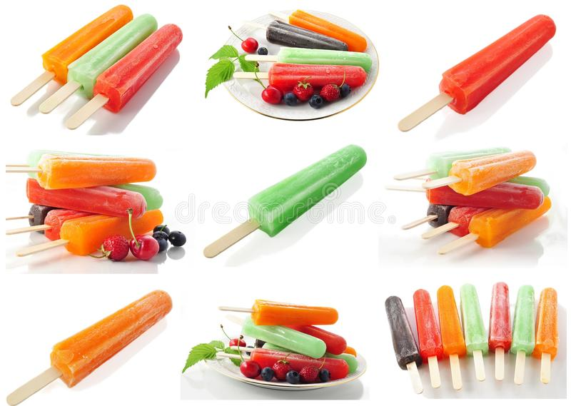 Download Ice cream pops stock image. Image of lime, cream, fruity - 16916405