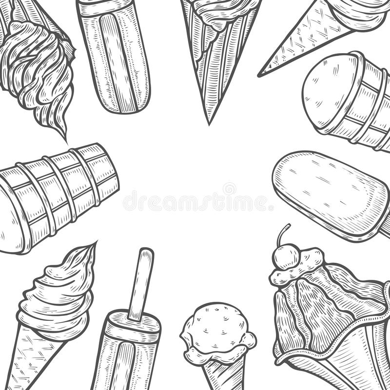 Ice cream popsicle shop stock vector. Illustration of illustration ...