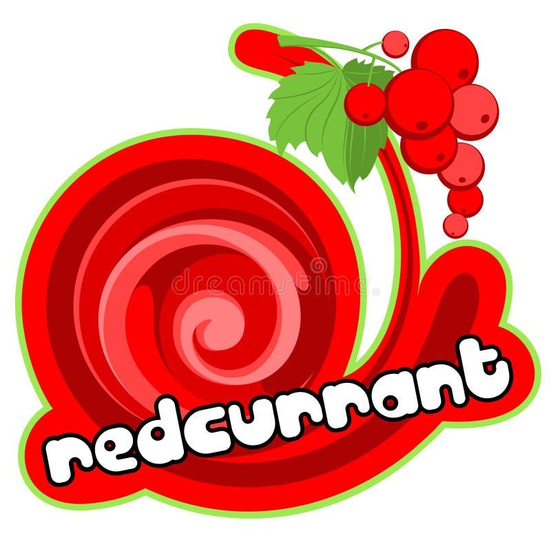 Ice cream redcurrant stock illustration