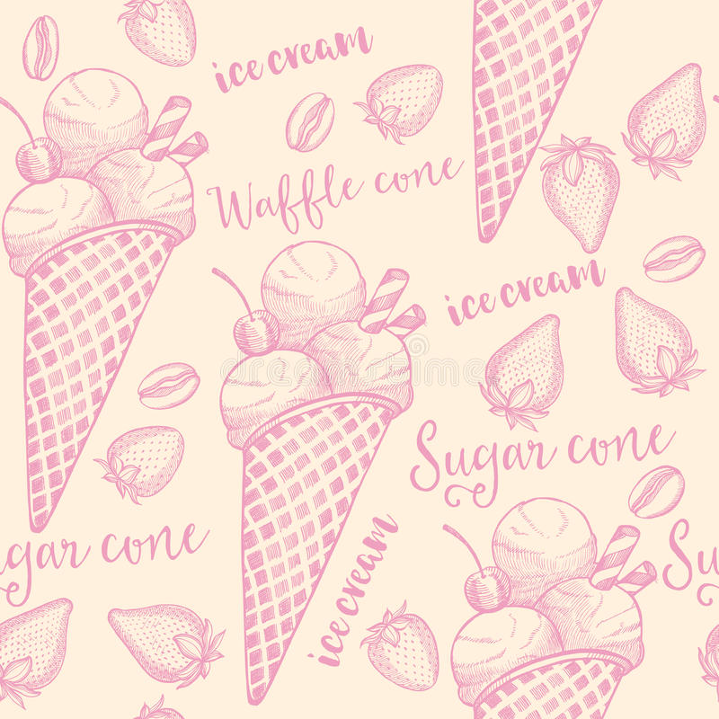 Ice cream seamless pattern background stock vector illustration download ice cream seamless pattern background stock vector illustration of drawing party maxwellsz