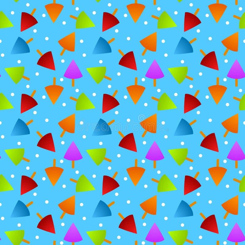 Ice cream Seamless Pattern stock image
