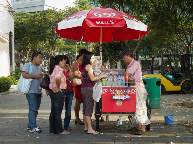 Download Ice cream seller editorial photography. Image of asia - 20869232