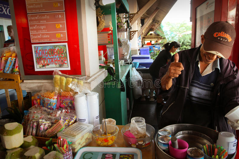 Download Ice cream seller editorial stock image. Image of street - 23636784