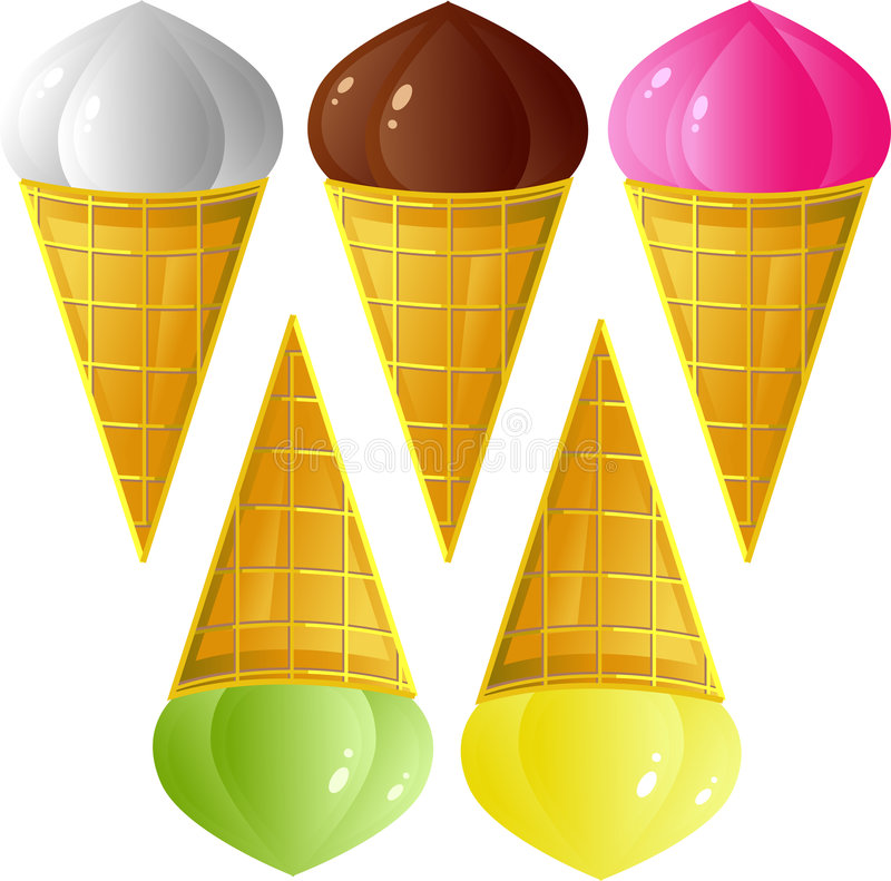 Download Ice-cream set stock vector. Image of product, freshness - 7788984
