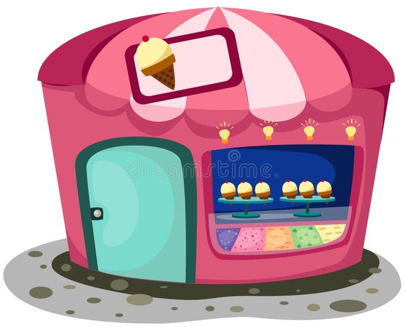Ice cream shop stock illustration