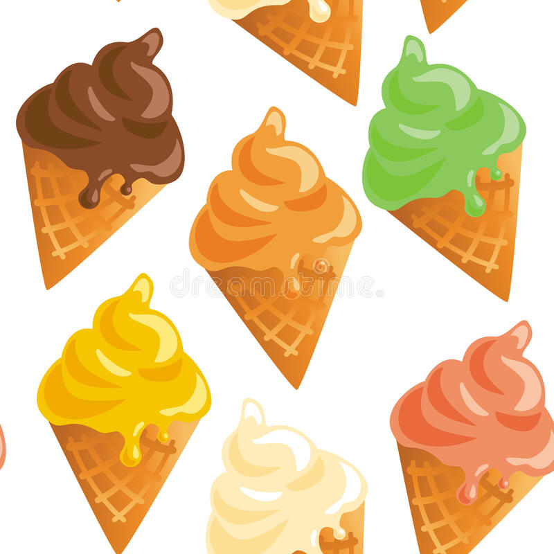 Ice cream song colorful seamless pattern royalty free illustration