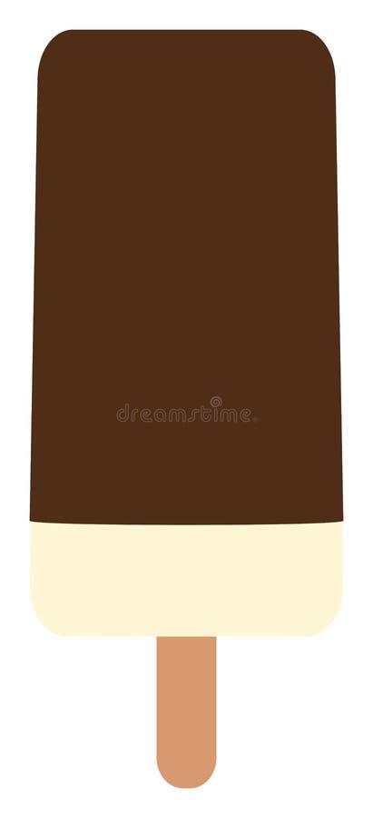 Ice cream on stick flat icon. Popsicle clipart. Vector illustration. Ice cream on stick flat icon. Popsicle clipart. Simple vector illustration vector illustration