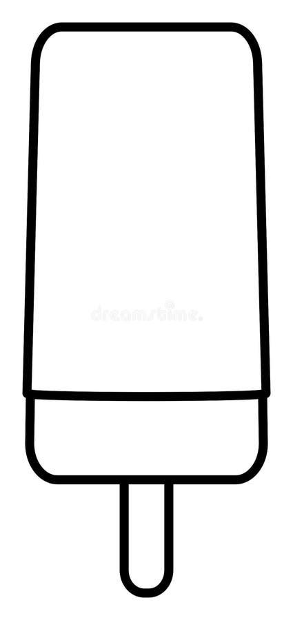 Ice cream on stick outline icon. Popsicle clipart. Vector illustration. Ice cream on stick outline icon. Popsicle clipart. Simple vector illustration stock illustration