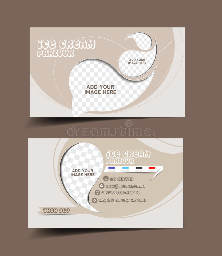Ice Cream Store Business Card Stock Vector - Illustration of ...