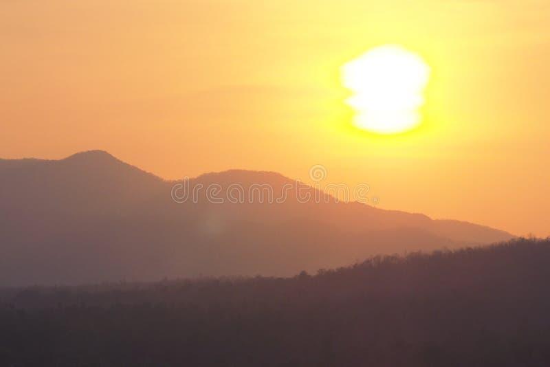 Ice cream sun when sunset royalty free stock photo