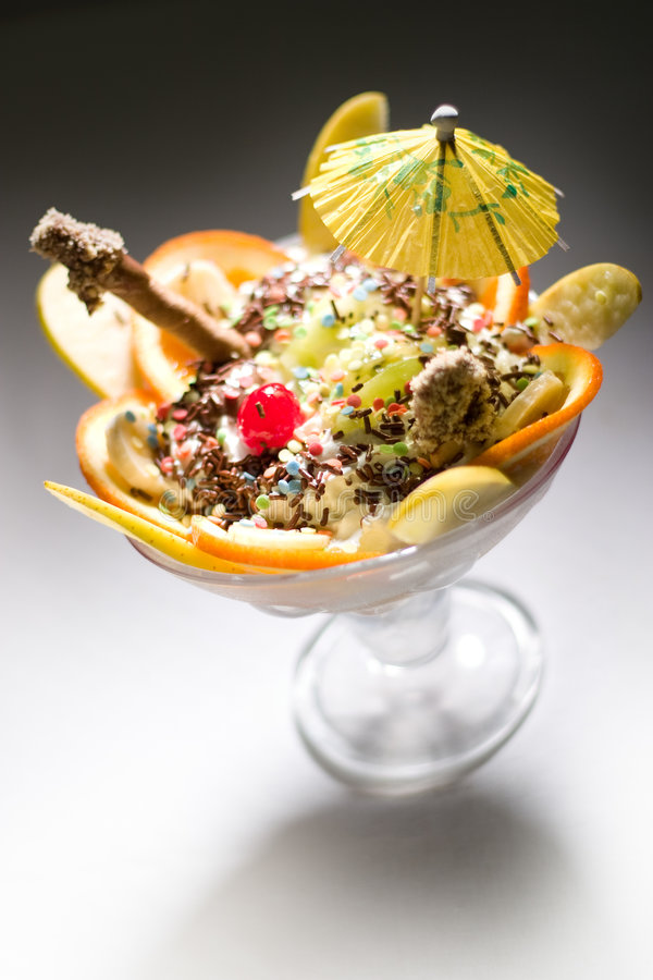 Ice cream - sundae stock images