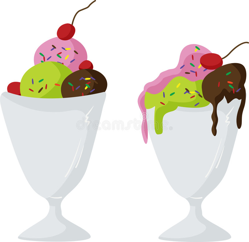 Download Ice-cream sundae stock illustration. Illustration of parfait - 9192496