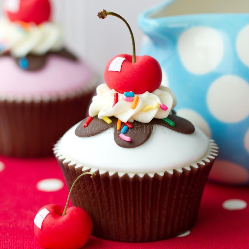 Ice cream sundae cupcake stock photo