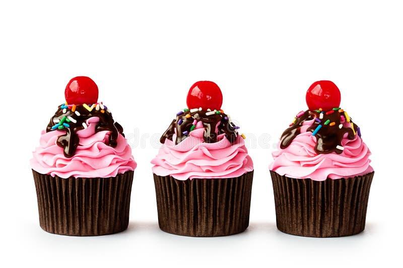 Ice cream sundae cupcakes royalty free stock photos