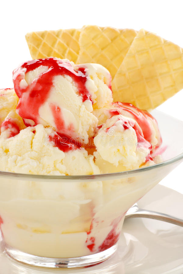 Ice Cream With Topping royalty free stock photo