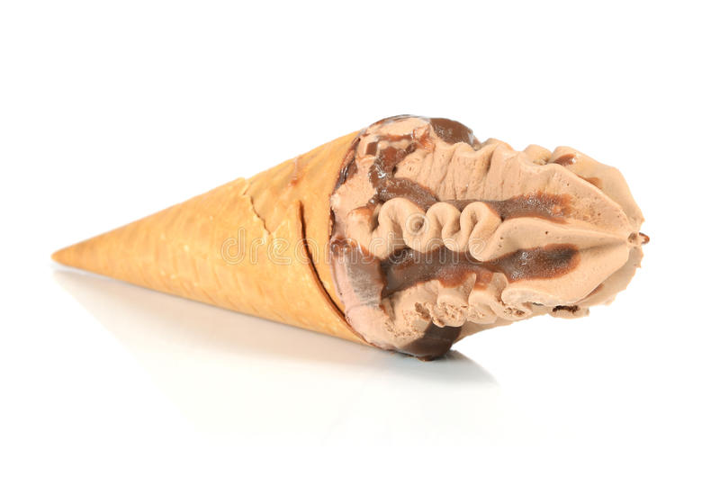 Ice Cream In Waffle Cone Royalty Free Stock Image
