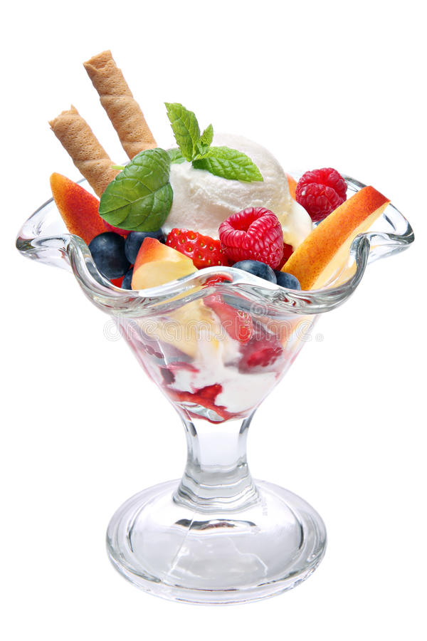 Free Ice Cream With Fruits Royalty Free Stock Photos - 25429188