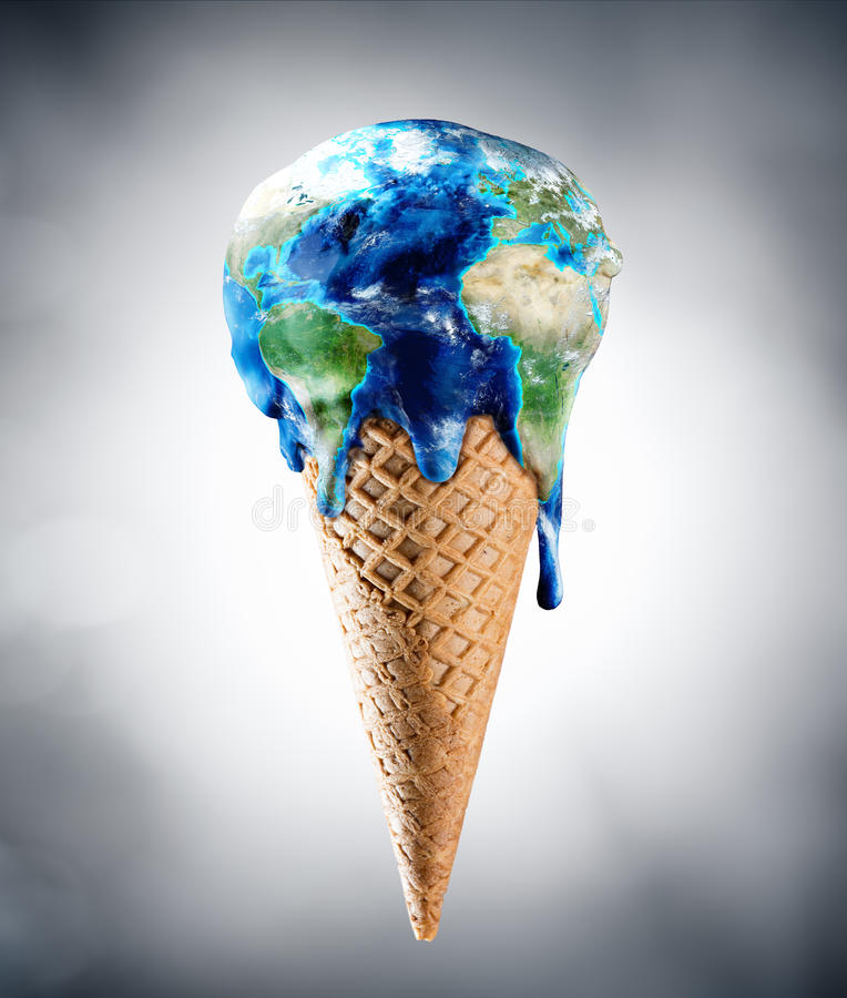 Ice Cream World - Climate Change stock photography