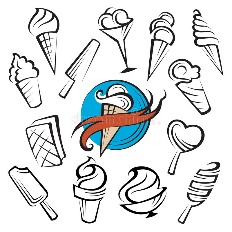 Download Ice creams set stock vector. Image of design, concept - 28333357