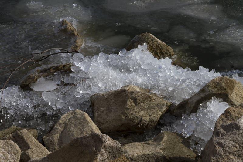 Ice Crushed On Rocks royalty free stock photo