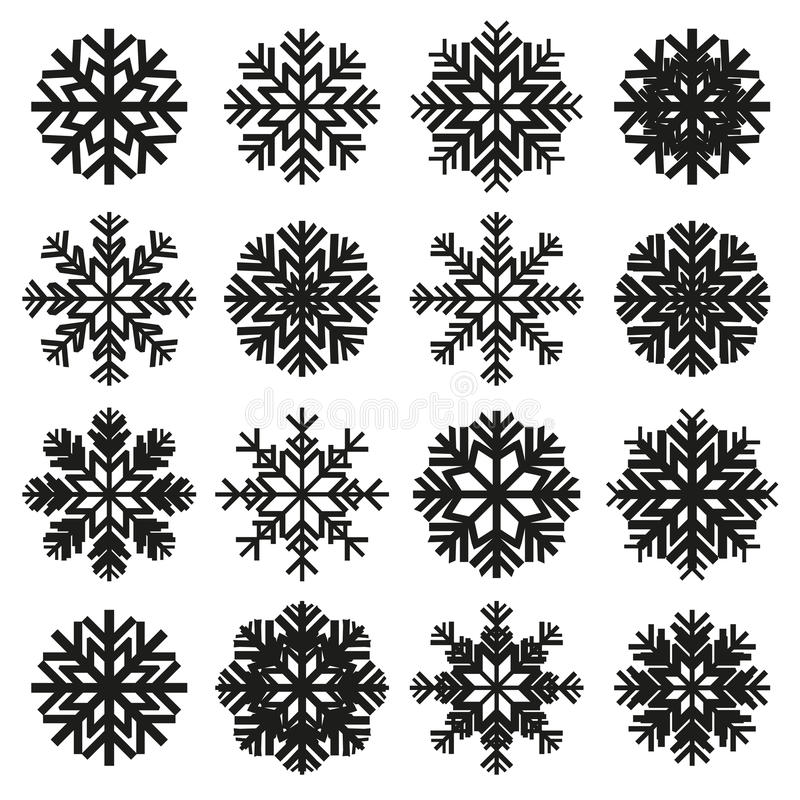 Ice crystal set vector illustration