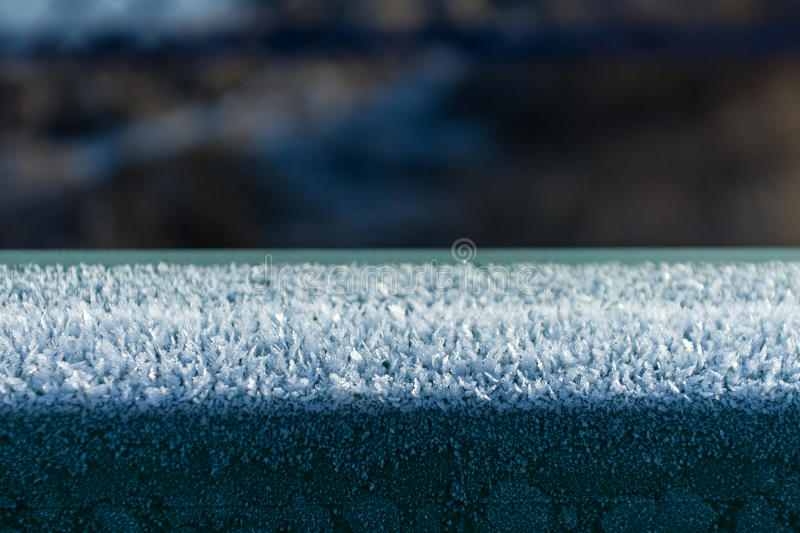Ice crystals. White shining chrystals of the frost. ice crystals stock image