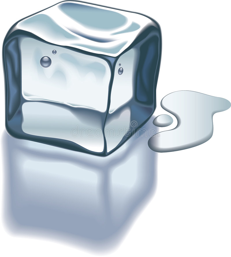 Ice cube stock illustration