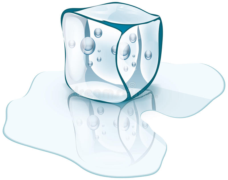 Download Ice cube stock vector. Image of frozen, up, crystal, painting - 33934778
