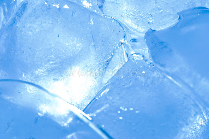 Ice cube with back light stock image