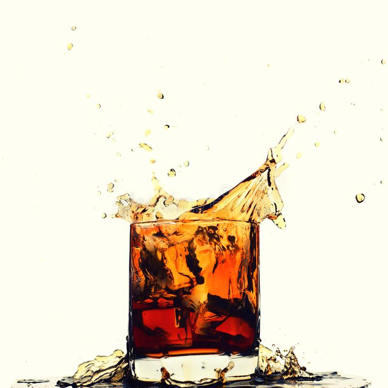 Free Ice Cube Falling Into Whiskey In Glass Royalty Free Stock Photography - 172224207