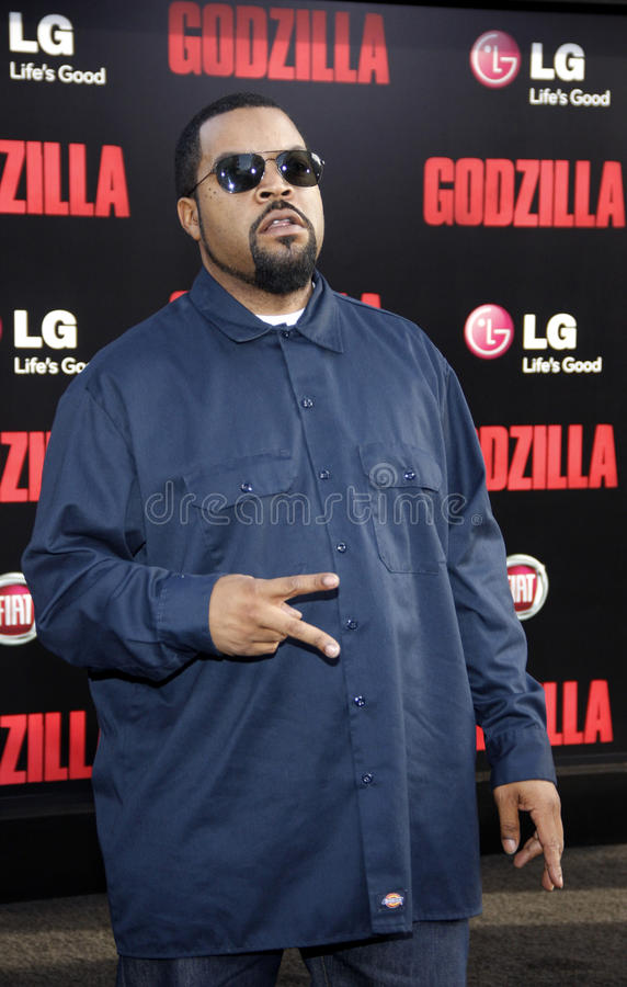 Ice Cube. At the Los Angeles premiere of Godzilla held at the Dolby Theatre in Los Angeles on May 8, 2014 in Los Angeles, California stock photography