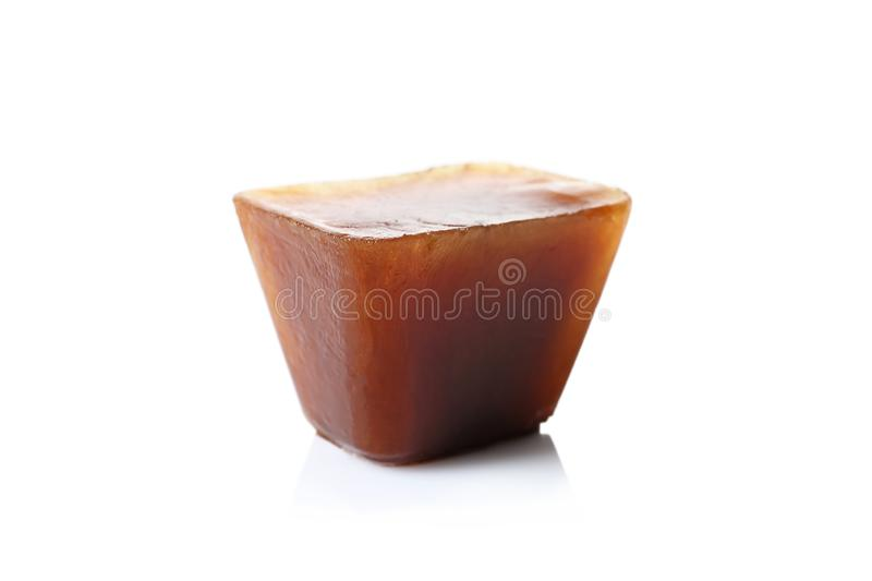 Ice cube made with coffee stock photography
