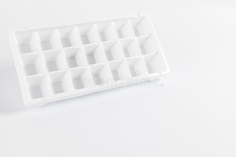Ice cube tray isolated on white royalty free stock photography