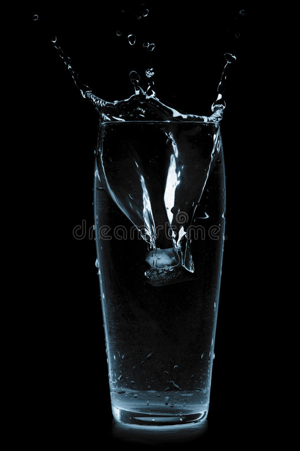 Download Ice cube in water glass stock image. Image of frost, bubble - 14825835